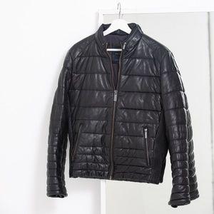 ZARA Men's genuine leather jacket